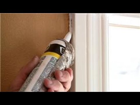 Home Help : How To Caulk Around Doors And Windows   YouTube