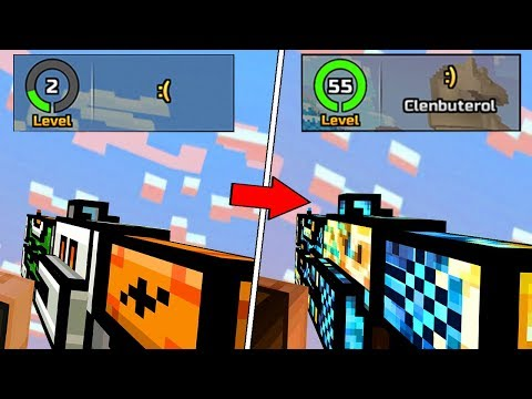 LEVEL 0 TO LEVEL 55 IN TWO DAYS! (Pixel Gun 3D)