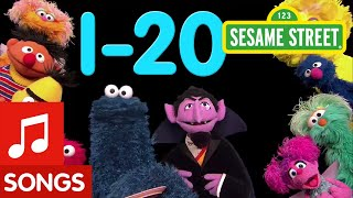 Sesame Street: 1-20 Songs | Number of the Day Compilation