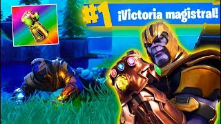 MATO A THANOS Y VICTORIA! FORTNITE: Battle Royale thumbnail