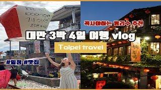 대만 3박4일 Vlog / 일정 / 대만호텔추천/예스진…