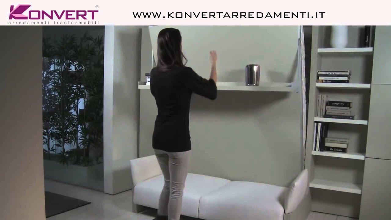 Letto a scomparsa Matrimoniale con divano NUOVOLIOLA\' Clei - YouTube