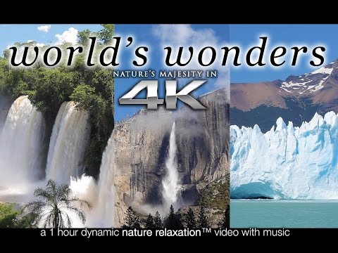 WORLD'S WONDERS in 4K | 1HR Nature Relaxation™ UHD Music Vid