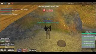 roblox -wolves life 2 beta-GOT VIW AND ROBUX ANIMALS- some music for viw