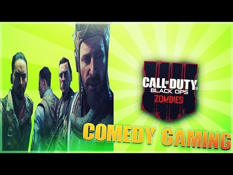 Black Ops 4 -  Zombies - Prison Escape - Rescuing Harv - Comedy Gaming