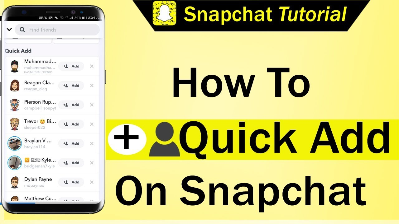 How To Quick Add On Snapchat - YouTube