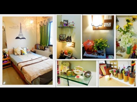 MY SMALL ROOM TOUR 2015 ||  INDIAN ROOM TOUR || HOW I ORGANISE MY INDIAN  ROOM