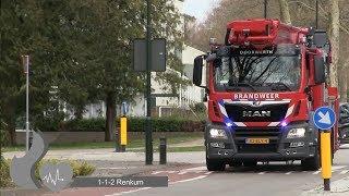(Nieuwe!) Hoogwerker 073451 brandweer Doorwerth met spoed naar brand in Andelst
