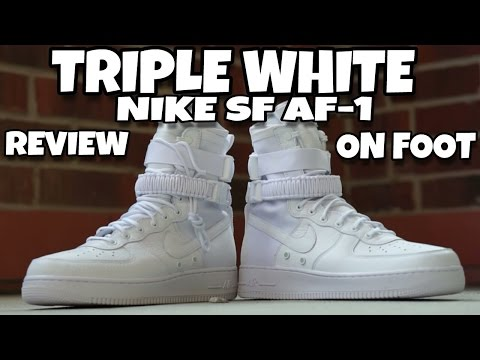 TRIPLE WHITE SPECIAL FIELD NIKE AIR FORCE 1 | TRIPLE WHITE SF AF1 | REVIEW & ON FOOT |