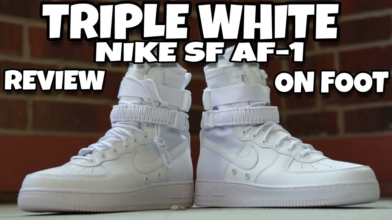 dae8841d717 TRIPLE WHITE SPECIAL FIELD NIKE AIR FORCE 1