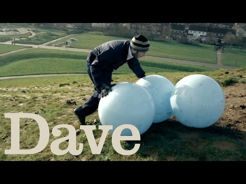 Place Three Balls On Top Of A Hill | Taskmaster | Dave