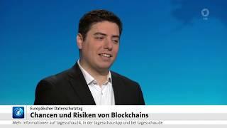 Tagesschau: Sicherheit durch Blockchain, Live-Interview mit Lennart Ante