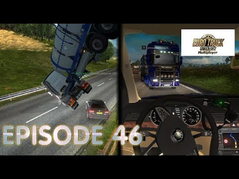 Euro Truck Simulator 2 Multiplayer | Funny Moments & Crash Compilation | #46 (ETS2MP )