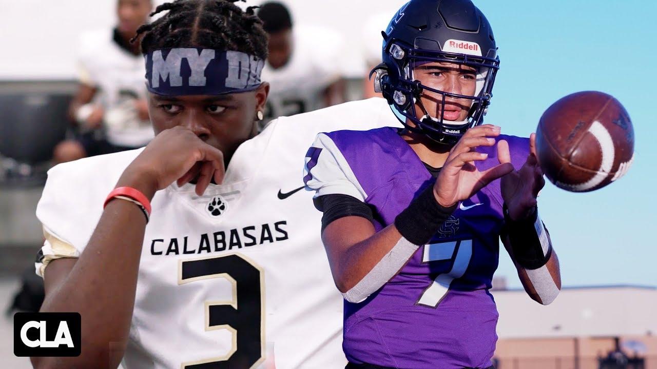 CRAZY QB BATTLE | Calabasas vs Rancho Cucamonga 2019 | Jaden Casey vs CJ Stroud @SportsRecruits Mix