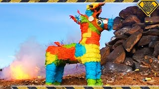 Repeat youtube video Exploding Missiles and A Random Piñata!