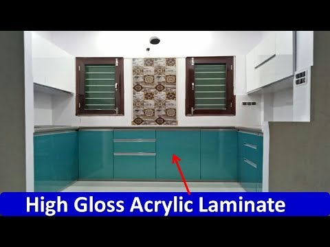 What Is Acrylic Laminate High Gloss Acrylic In Kitchen Youtube