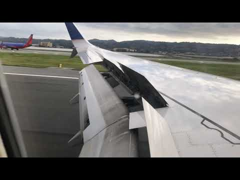 United Airlines B737-800 Takeoff From Phoenix Landing At SFO Airport