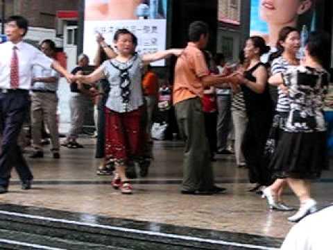 Shanghai dancing on the main street
