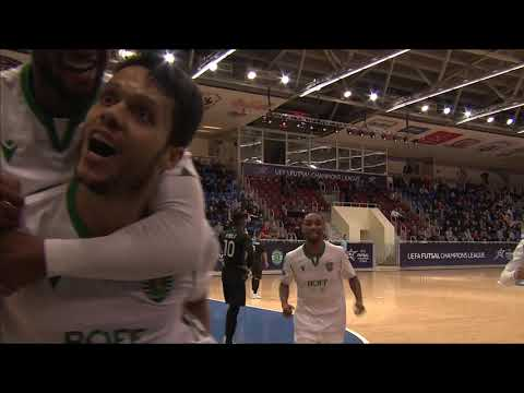 Uefa Futsal Champions League. Sporting (por) Vs Ayat (kaz) – 5:2. Highlights