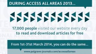 Access All Areas of Palgrave Macmillan Journals