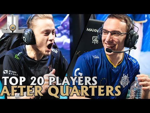 Updated Top 20 Player Rankings From Groups and Quarterfinals | Worlds 2018