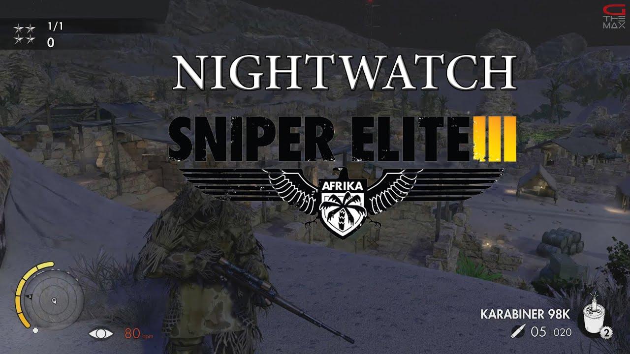 Lets Play Sniper Elite 3 III Nightwatch Nachtwache Multiplayer
