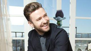 Dreamworks' Trolls: Cast with their Animated Trolls - Justin Timberlake, Anna Kendrick