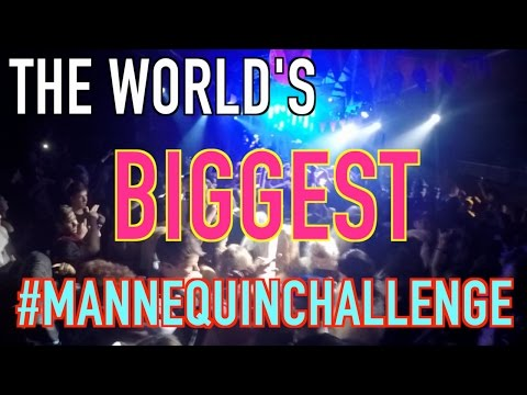 The world's BIGGEST #MannequinChallenge!