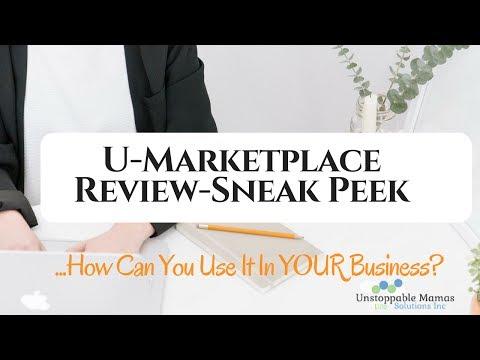 U marketplace Sneak Peek | U-Economy