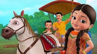 Chal Chal Gurrapu Baṇḍi - Horse Cart Song | Telugu Rhymes for Children | Infobells