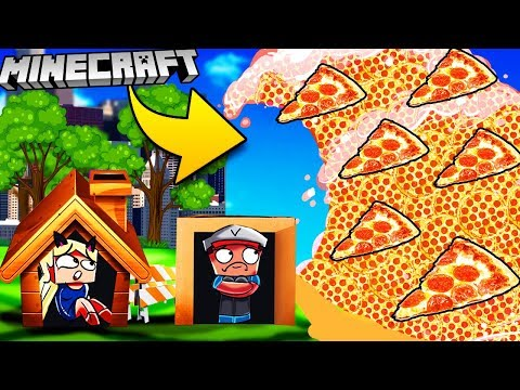 PIZZA TSUNAMI W MINECRAFT | BAZA VS TSUNAMI PIZZY CHALLENGE | Vito Vs Bella
