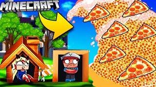 PIZZA TSUNAMI W MINECRAFT | BAZA VS TSUNAMI PIZZY CHALLENGE | Vito vs Bella