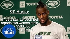 911 audio of Le'Veon Bell reporting items stolen by two girls