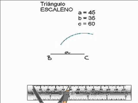Construcción de un triángulo escaleno - YouTube