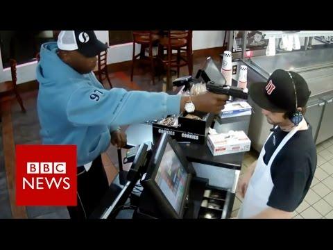 Gunpoint victim explains astonishing cool - BBC News