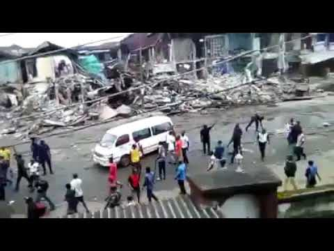 SOLDIERS SHOOT INDISCRIMINATELY DURING OWERRI MARKET DEMOLITIONS