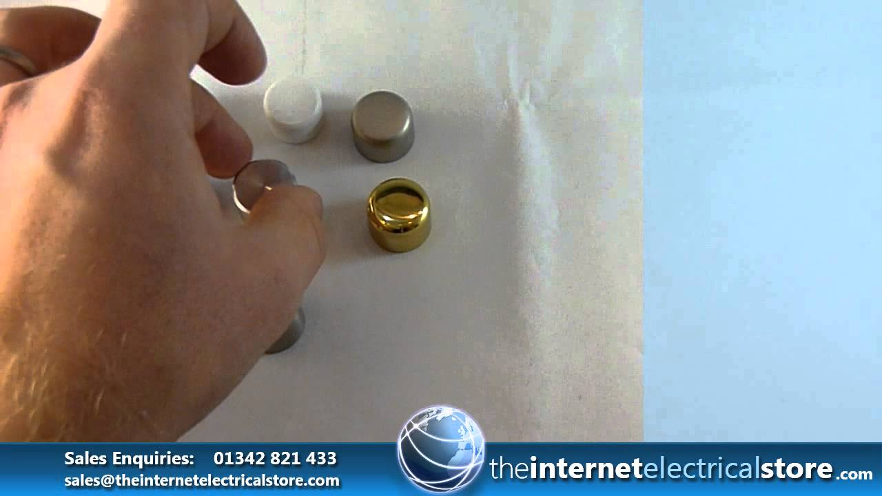 How to replace a dimmer switch - Varilight Replacement Universal Dimmer Switch Knobs