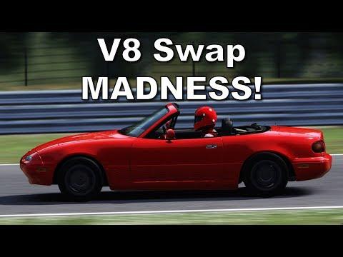 Let's Drop a Corvette LT1 V8 into a Virtual Mazda Miata in