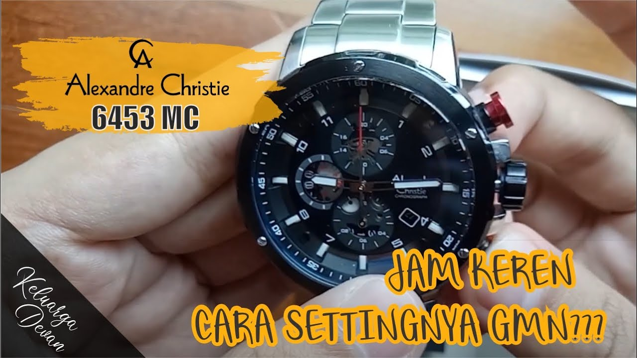 Unboxing Cara Set Jam Tangan Alexandre Christie 6453 Mc Ac 6442 Rose Gold Black Sporty