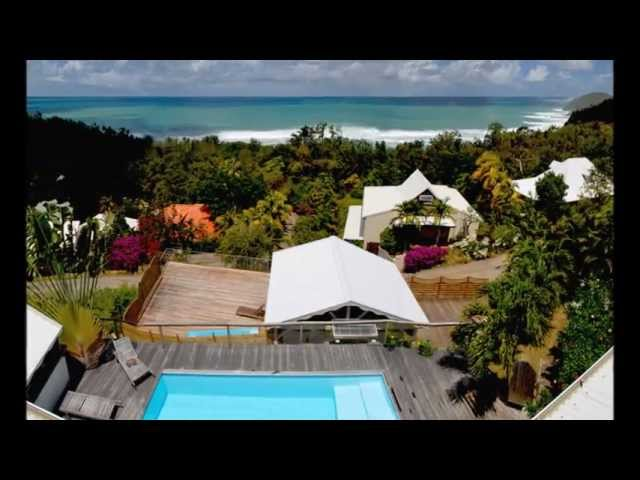 Location Martinique, Location Bungalow Martinique, Ti Turquoise Tartane.wmv