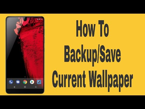 How To Backup/Save Current Home Screen & Lock Screen Wallpaper | Tutorial