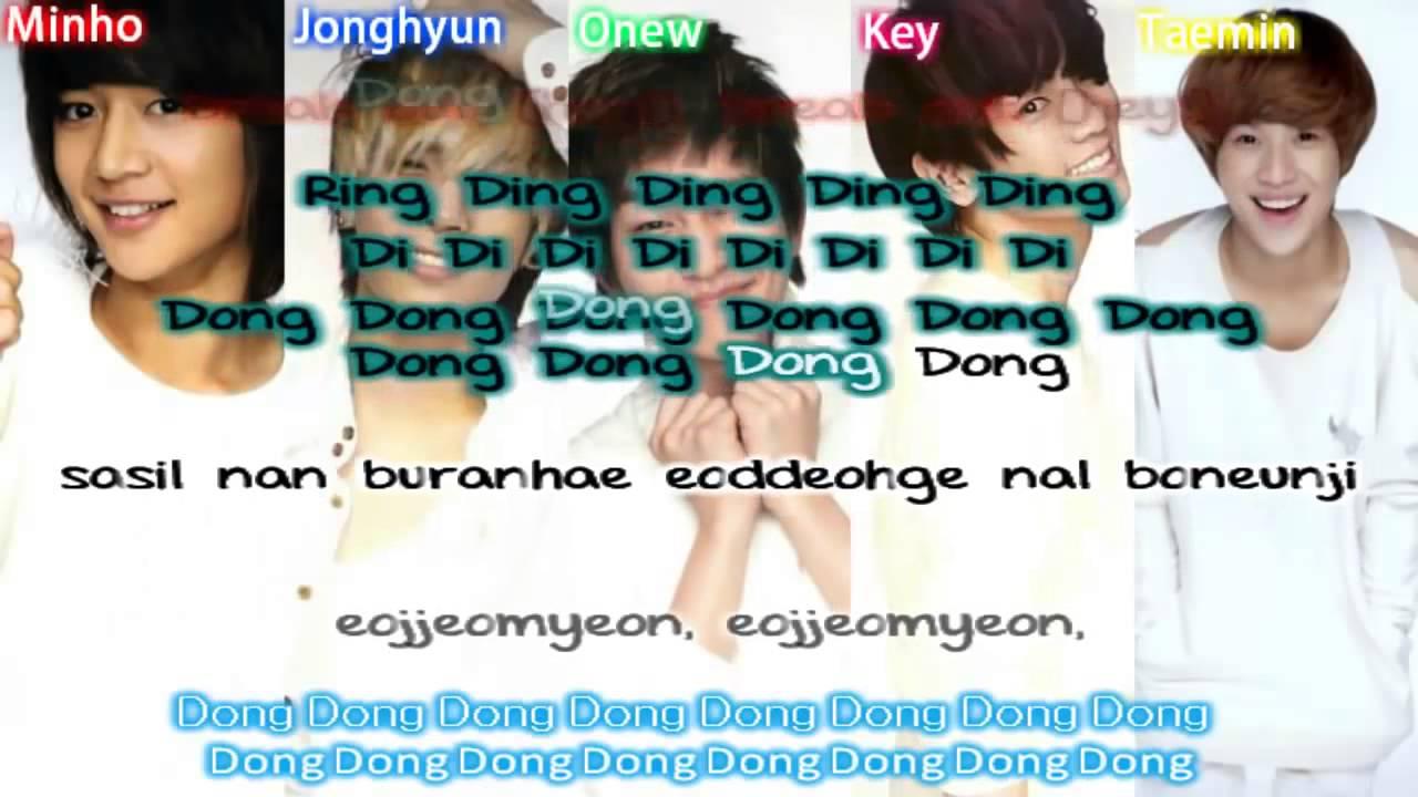 Shinee Ring Ding Dong Lyrics