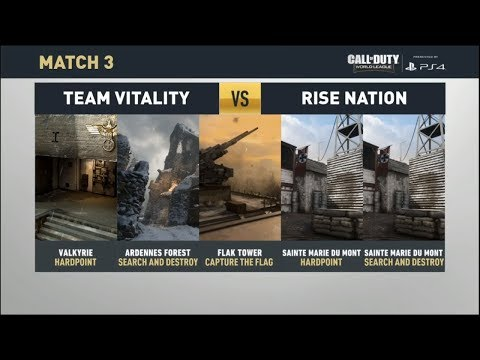 Rise Nation vs. Team Vitality - CWL Pro League (Call of Duty WWII)