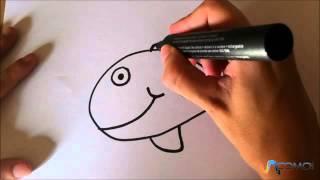 Dibujar un pez animado - Drawing an animated fish