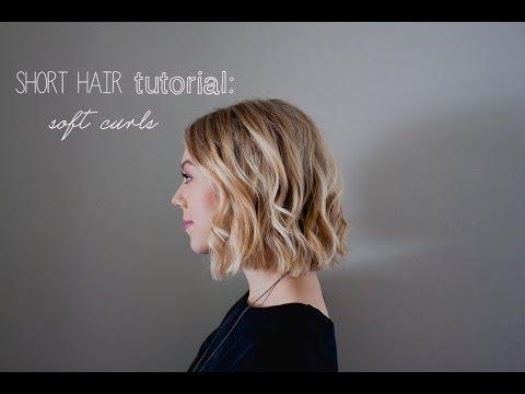Short Hair Tutorial Soft Curls For Summer Weddings Prom Youtube