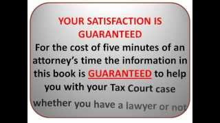 On Your Own in Tax Court, U.S. Tax Court without a Lawyer
