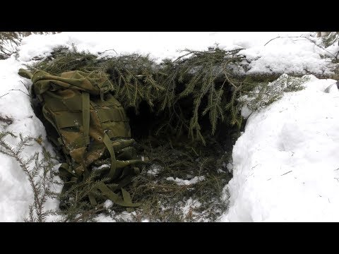 15 minutes Winter Survival Shelter
