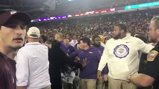 Fight breaks out between LSU assistant and Aggie assistant