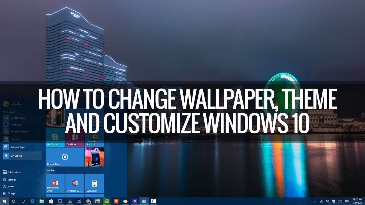 how to change wallpapers themes lockscreen and start in windows 10 techniqued youtube