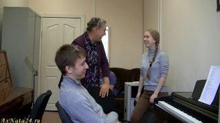 Урок вокала.Упражнение на сонорных согласных.Включение опоры и артикуляции
